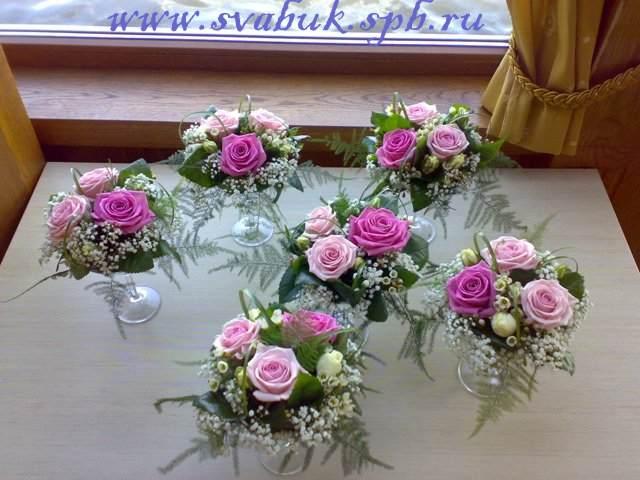 Как сделать букет из живых цветов на стол своими руками